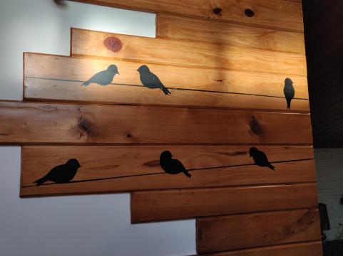 Shadow play of birds in one bedroom